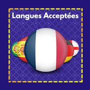 Langues acceptées