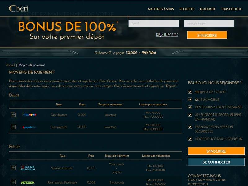 bonus Casino Cheri
