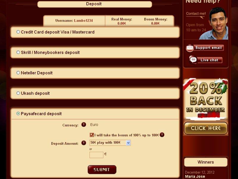 bonus Tropezia Palace Casino