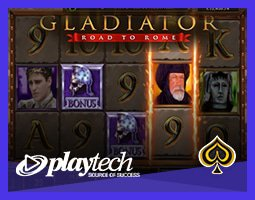 Machine à sous Gladiator: Road to Rome sur les casinos Playtech