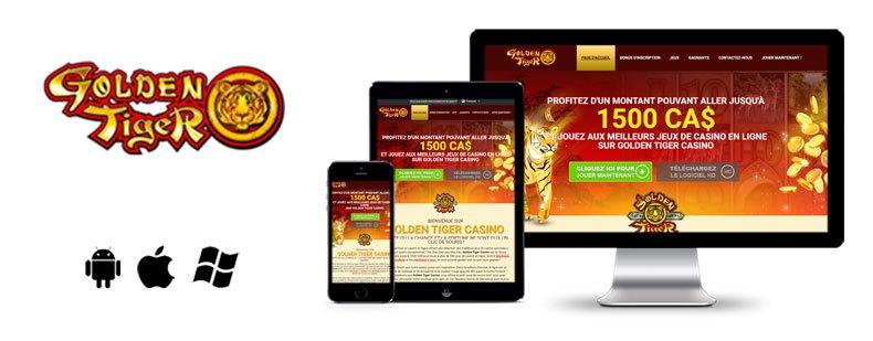 golden tiger mobile image