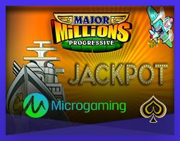 Jackpot décroché sur Major Millions de Microgaming