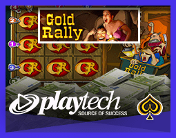 Jackpot de la machine à sous Gold Rally de Playtech gagné