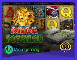 Jackpot de la machine à sous Mega Moolah de Microgaming décroché
