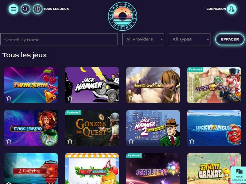 jeux Casino Ocean Breeze