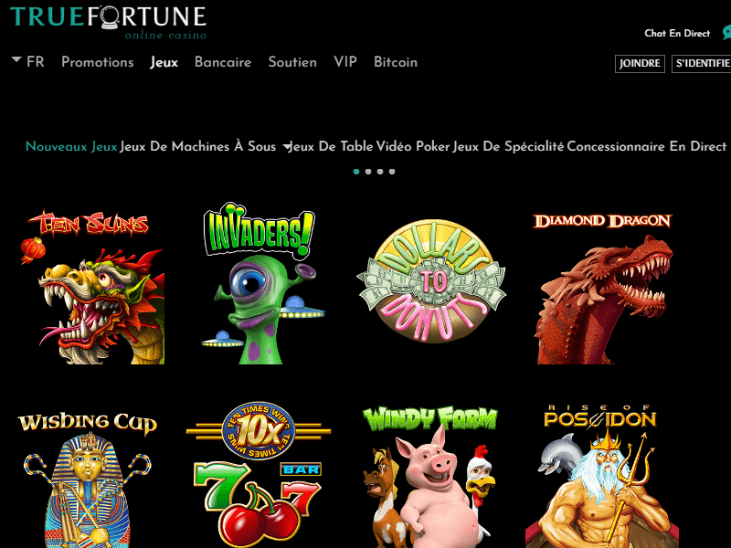 jeux Casino True Fortune