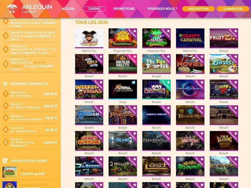 jeux CasinoArlequin