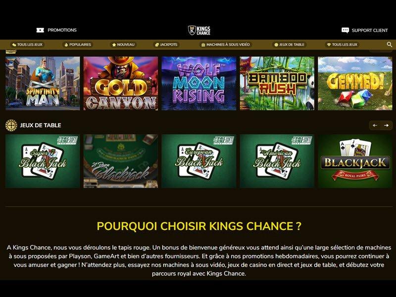 jeux Kings Chance