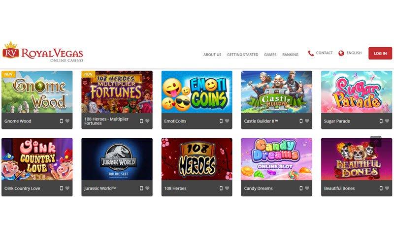 jeux Royal Vegas Casino