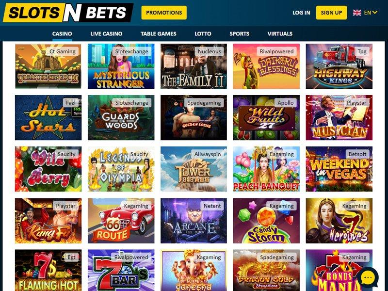 jeux SlotsNBets Casino