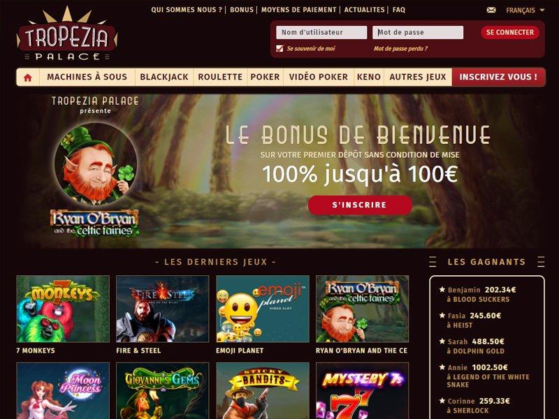 jeux Tropezia Palace Casino