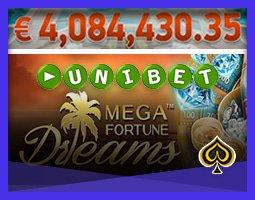 Un joueur de Unibet gagne 4 millions € sur Mega Fortune Dreams