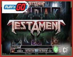 En mars vous jouerez à la machine à sous Testament de Play'n Go