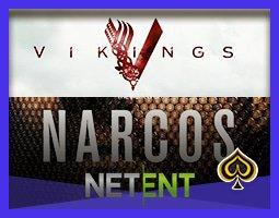 NetEnt a reçu le privilège de lancer les jeux Narcos et Vikings