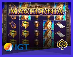 Nouvelle machine à sous King of Macedonia d'IGT