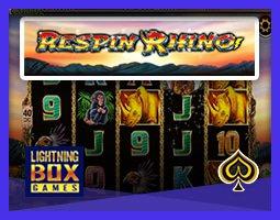 Nouvelle machine à sous Respin Rhino de Lightning Box