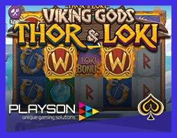 Nouvelle machine à sous Viking Gods : Thor & Loki de Playson