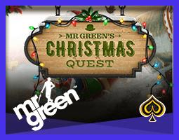 Promotion €1,000,000 Festive Quest de Mr Green pour décembre